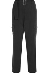 Equipment Manon Washed Silk Pants Charcoal