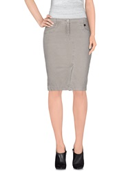 Tru Trussardi Knee Length Skirts Grey