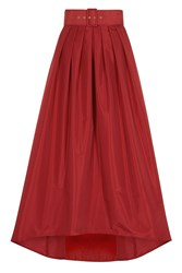 Coast Simone Belted Skirt Red