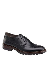 Johnston And Murphy Jennings Calfskin Leather Wingtip Oxfords Black