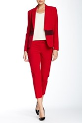Anne Klein Seamed Pant Red