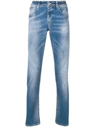 Dondup Faded Straight Leg Jeans Blue