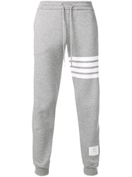 Thom Browne 4 Bar Half And Half Sweatpants Grey