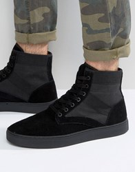Kg By Kurt Geiger Apicella Suede Hitop Trainers Black