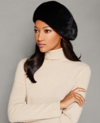 The Fur Vault Mink Beret Mahogany