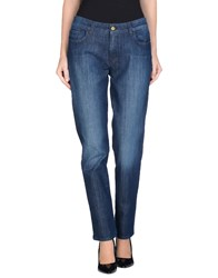 Les Copains Denim Denim Trousers Women Blue