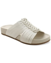 Nanette By Nanette Lepore Magda Woven Flat Slide Sandals Women's Shoes White