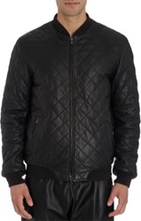 Lot 78 Quilted Baseball Bomber Jacket Black