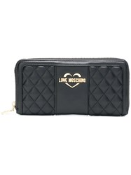 Love Moschino Quilted Black Wallet