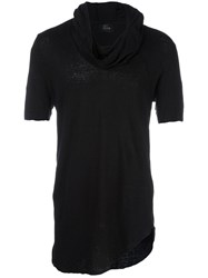 Lost And Found Rooms Cowl Neck T Shirt Black