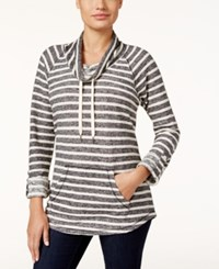 Styleandco. Style Co. Striped Cowl Neck Top Only At Macy's Deep Black