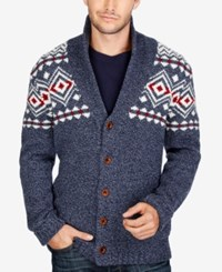 Lucky Brand Men's Lodge Cardigan Navy Multi