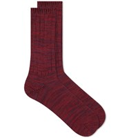 Anonymous Ism 5 Colour Mix Crew Sock Burgundy