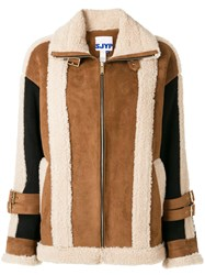 Sjyp Mustang Shearling Jacket Brown
