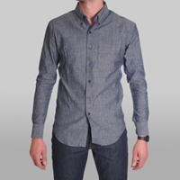 Naked And Famous Shirt Slim Lightweight Chambray Buy Mens Designer Clothes At Denim Geek Online