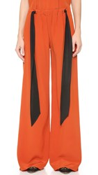 Cedric Charlier Wide Leg Trousers Red