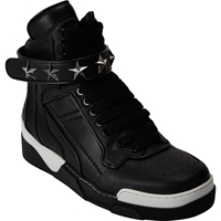 Givenchy High Top Star Ankle Strap Sneakers Black