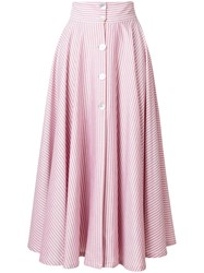 Jour Ne Striped A Line Skirt Pink And Purple