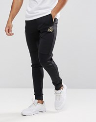 Kings Will Dream Skinny Joggers In Black With Gold Logo Black