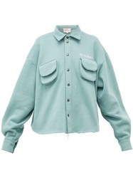 Natasha Zinko Cargo Pocket Cotton Blend Jersey Shirt Light Green