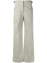 Christophe Lemaire Flared Trousers Nude Neutrals