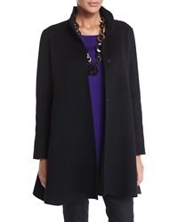 Eileen Fisher Brushed Wool Swing Coat Petite
