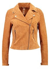 Freaky Nation Leather Jacket Chipmunk Camel
