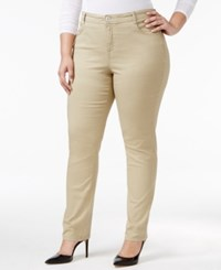 Styleandco. Style Co. Plus Size Tummy Control Slim Leg Jeans Only At Macy's French Birch