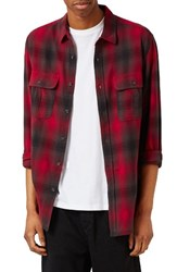 Topman Men's Plaid Flannel Shirt
