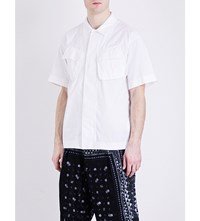 Sacai Cargo Cotton Twill Shirt White
