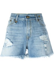 R 13 R13 Denim Shorts Blue