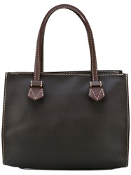 Moreau Zipped Tote Men Leather One Size Brown