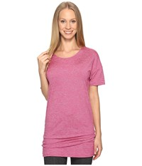 Lucy Manifest Short Sleeve Tunic Baroque Berry Micro Stripe Women's Short Sleeve Pullover Pink