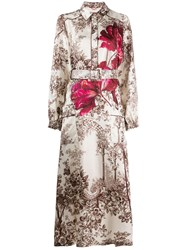 F.R.S For Restless Sleepers Floral Print Belted Dress 60