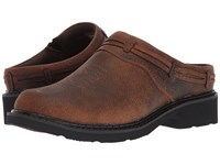 Roper Laces Brown Crazy Horse Leather Women's Slip On Shoes