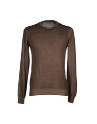 Brooksfield Royal Blue Knitwear Jumpers Men Dark Brown