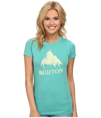 Burton Stamped Mountain S S Lagoon Women's Clothing Blue