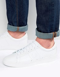 Fred Perry Spencer Leather Trainers White