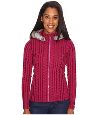 Obermeyer Sadie Cable Knit Jacket Bordeaux Women's Coat Burgundy