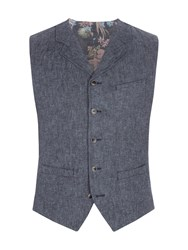 Gibson Men's Denim Look Twill Vest Denim