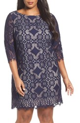 Eliza J Plus Size Women's Lace Shift Dress