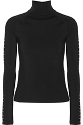 Balenciaga Embellished Wool Turtleneck Sweater