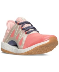 Adidas Women's Pure Boost Xpose Running Sneakers From Finish Line Easy Coral Linen Maroon