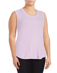 Melissa Mccarthy Seven7 Plus Ribbed Knit Tank Top Purple