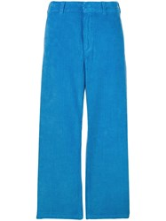 Department 5 Cropped Corduroy Trousers Blue