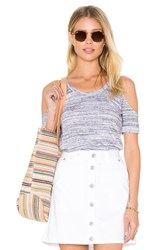 Candc California Riki Cold Shoulder Tee Gray