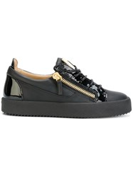 Giuseppe Zanotti Design Nicki Low Top Sneakers Women Calf Leather Leather Patent Leather Rubber 39 Black