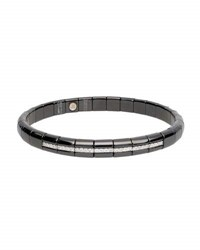 Roberto Demeglio Pura Matte Black Ceramic And 18K White Gold Bracelet With Diamonds 0.25 Tdcw
