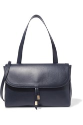 Iris And Ink Leather Shoulder Bag Midnight Blue