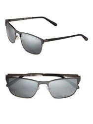 Guess 57Mm Square Sunglasses Black